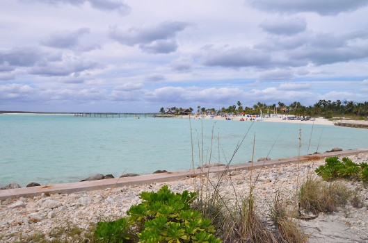 The blue waters of Castaway Cay